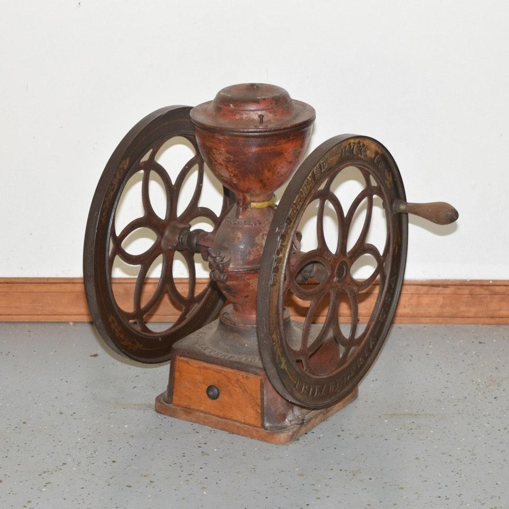 Antique Enterprise Double Wheel Coffee Grinder