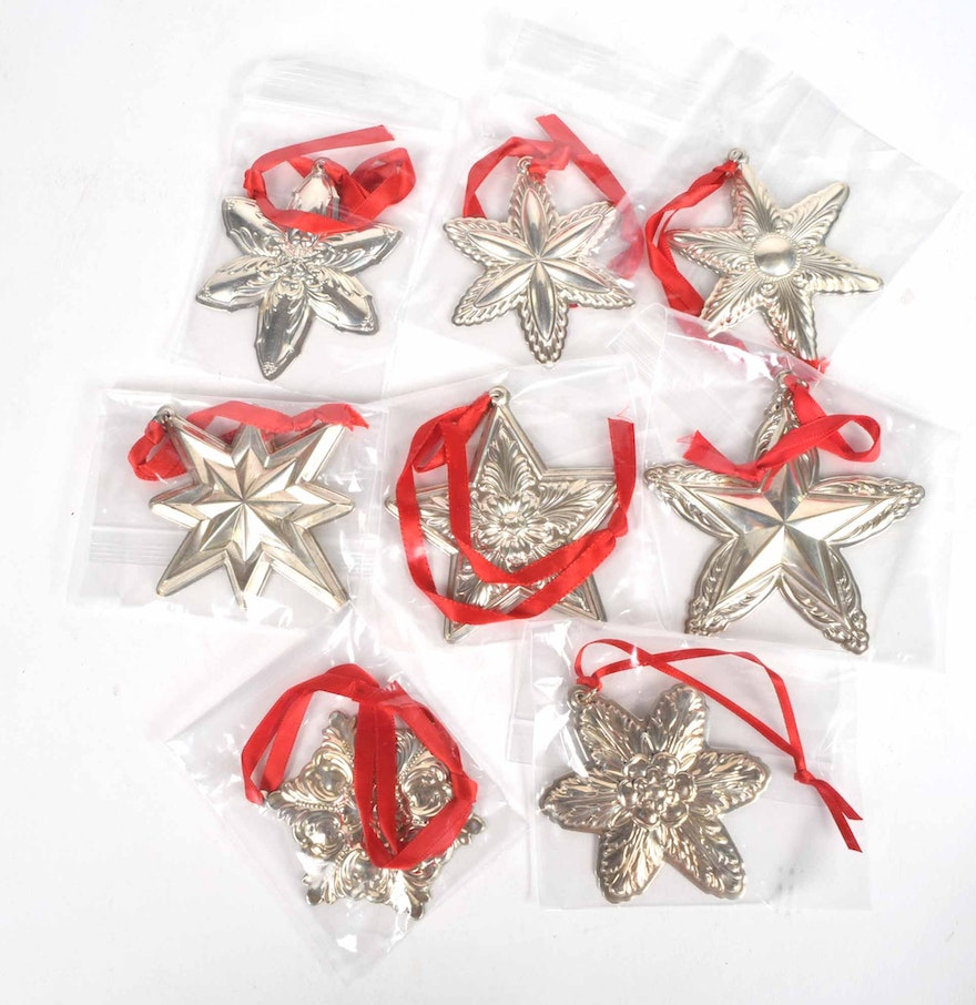Lunt Sterling Silver Christmas Ornaments