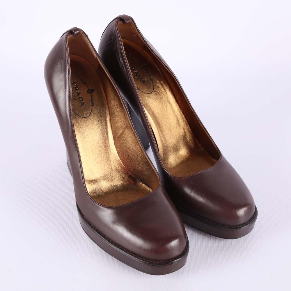Prada Leather Platforms