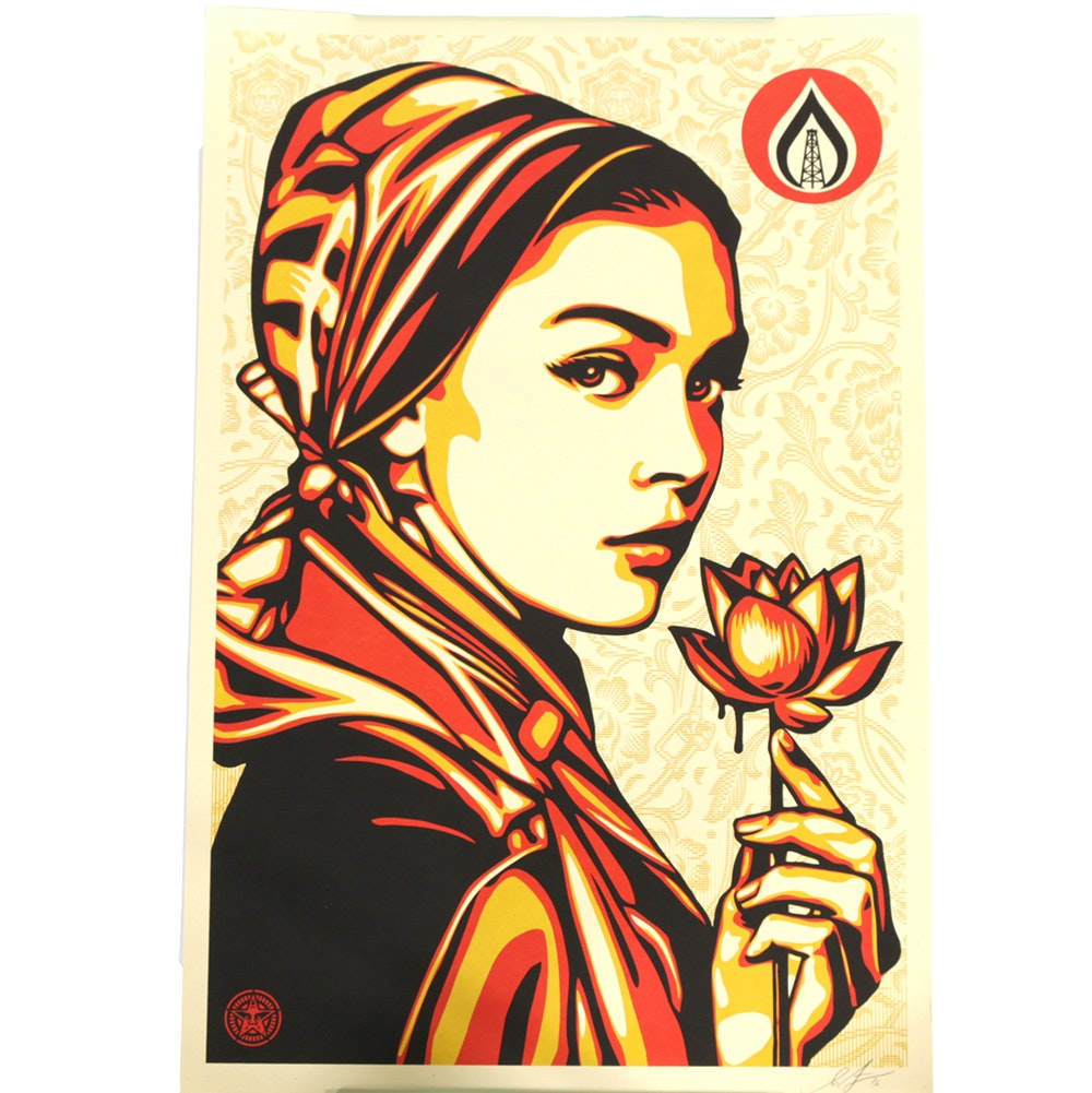 """Shepard Fairey Signed Offset Lithograph """"Natural Springs"""""""