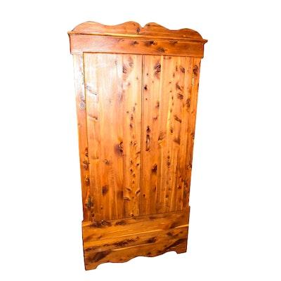vintage knotty pine armoire