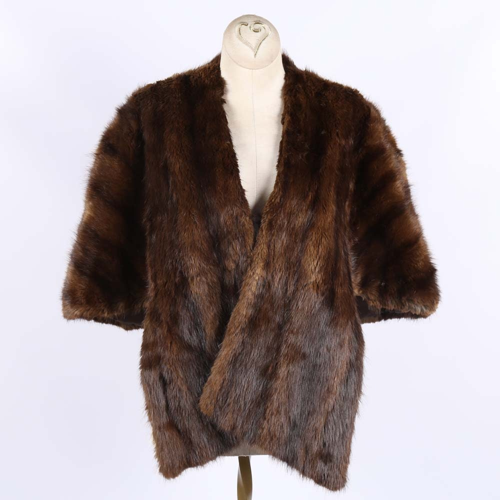 Vintage Beaver Fur Stole