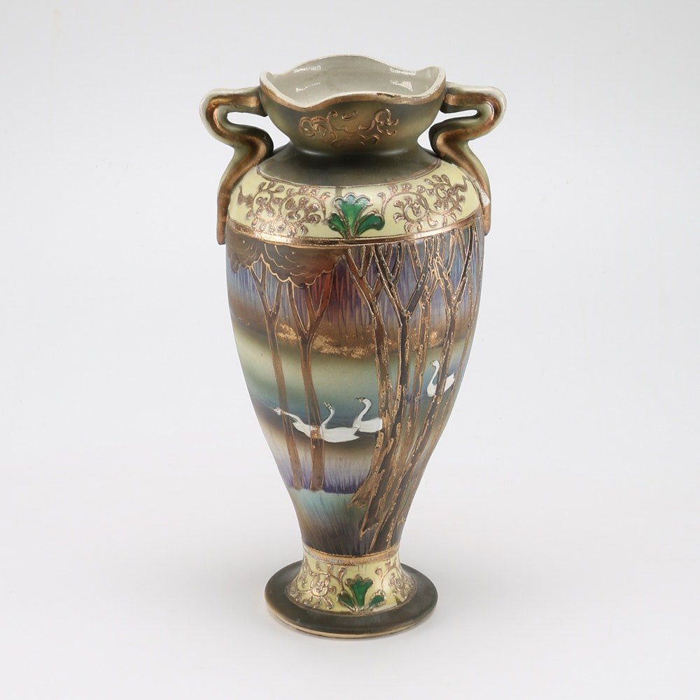 Vase Decorated with Geese