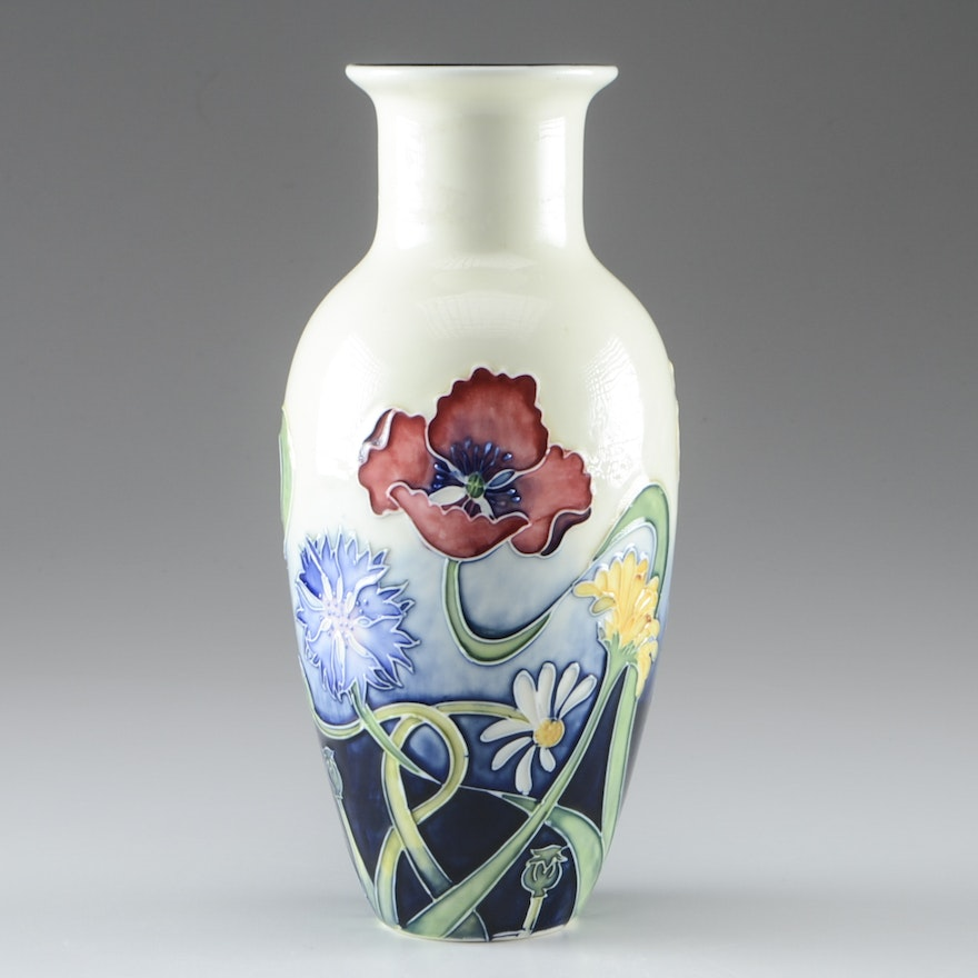 Jeanne Mcdougall For Old Tupton Ware Art Deco Style Vase Ebth