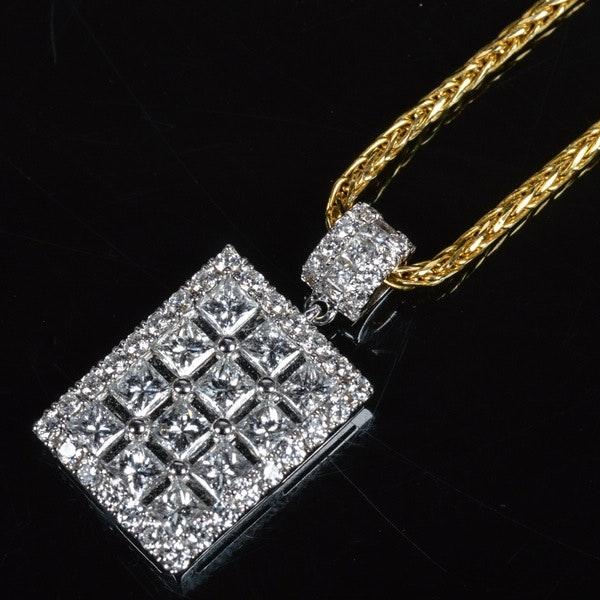 18K White Gold 1.28 CTW Diamond Pendant