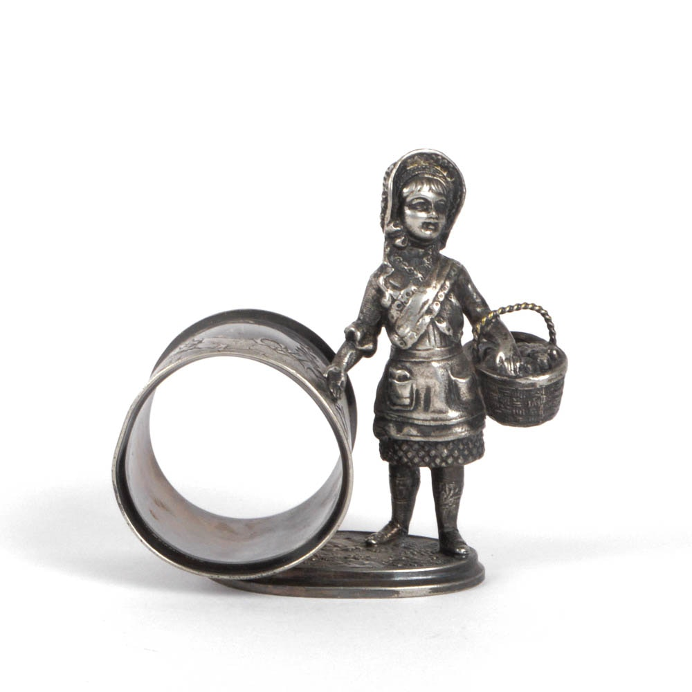 """Little Red Riding Hood"" Reed & Barton Plated Silver Napkin RIng"