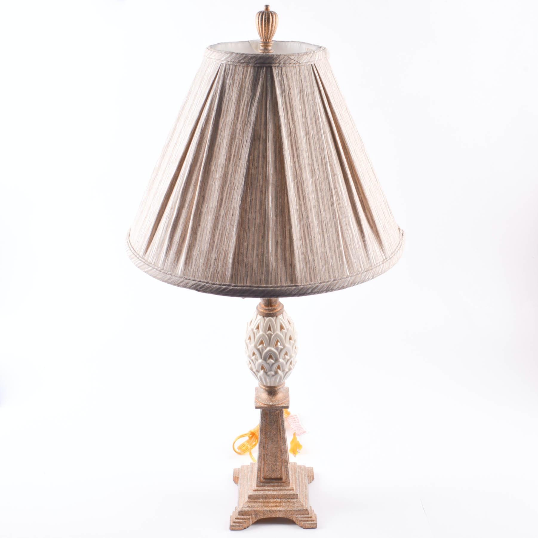 Lenox Quoizel Pineapple Lamp Ebth