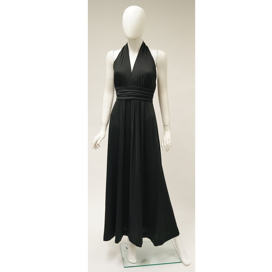 Young Dimensions for Saks Fifth Avenue Halter Maxi : EBTH