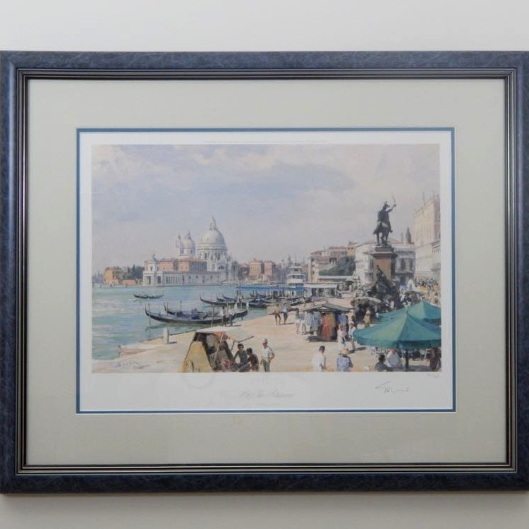 """John Stobart """"Venice"""" Limited Edition Signed Lithograph"""