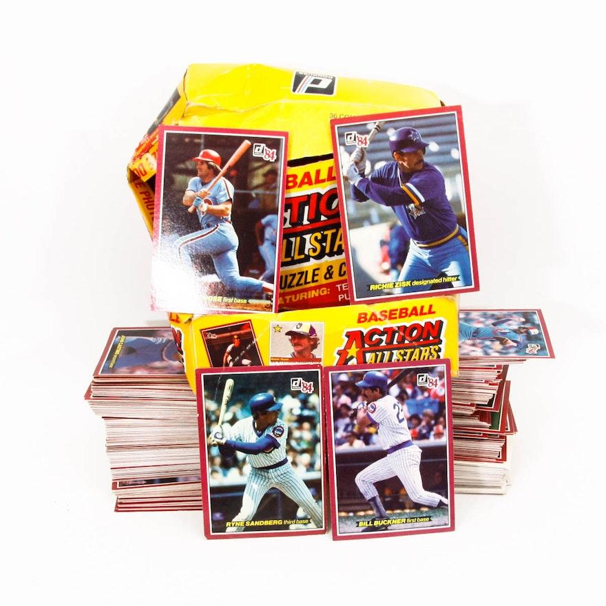 1984 Donruss Action All Star 5x7 Baseball Cards