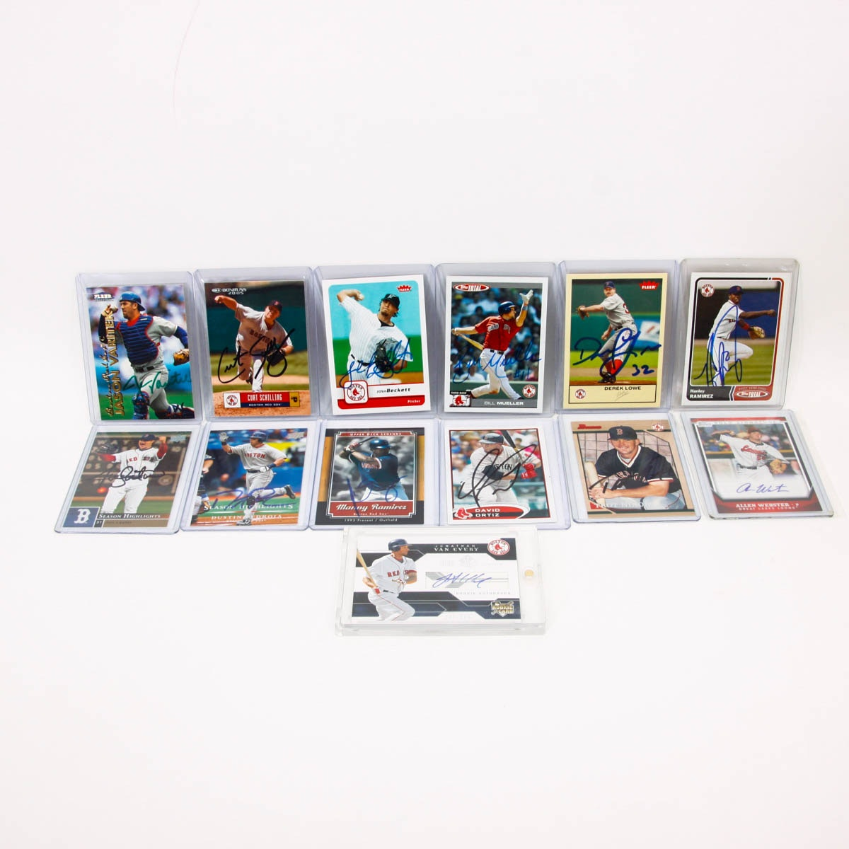 Boston Red Sox Autograph Collection with David Ortiz and Jason Varitek
