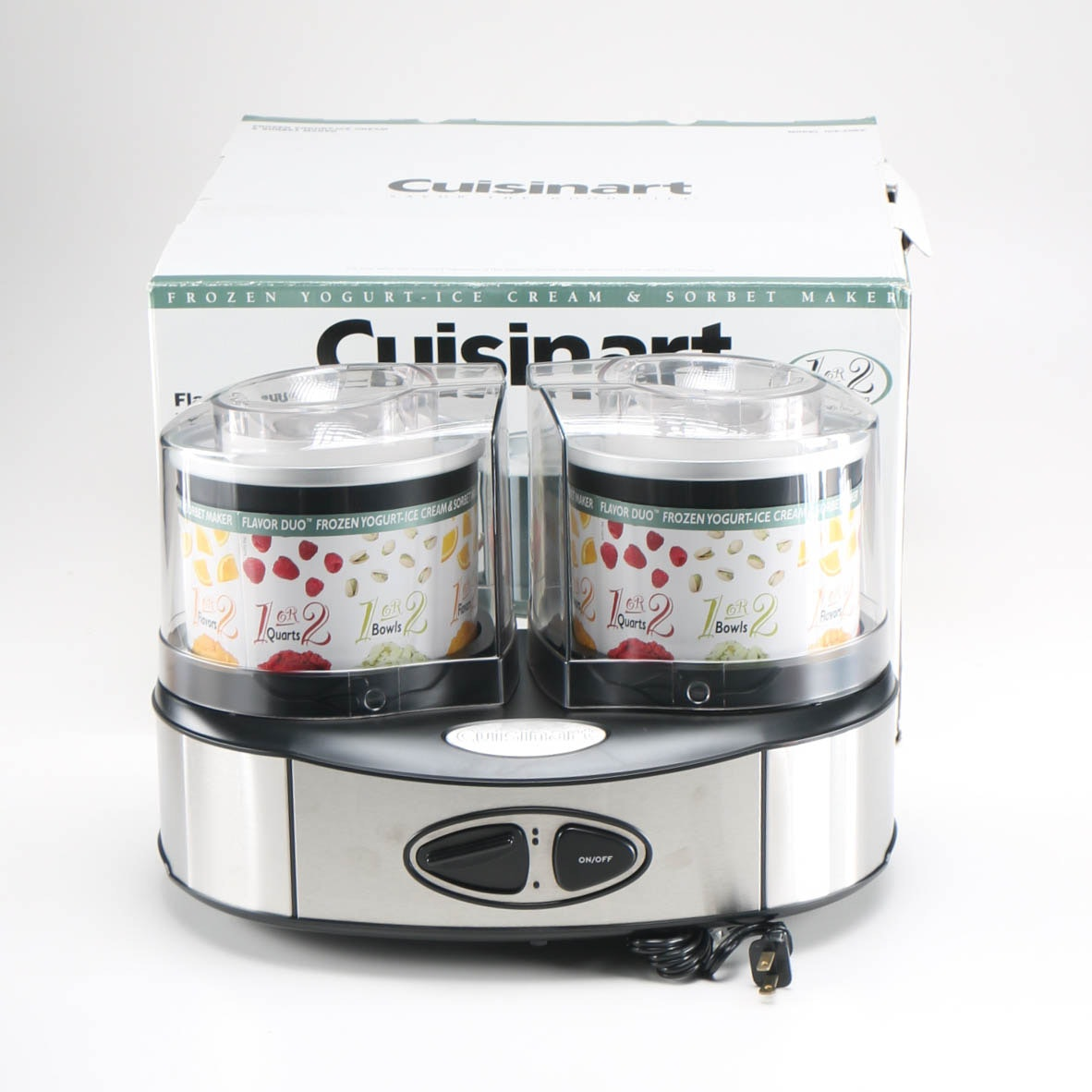 "Cuisinart ""Flavor Duo"" Frozen Yogurt and Ice Cream Maker"