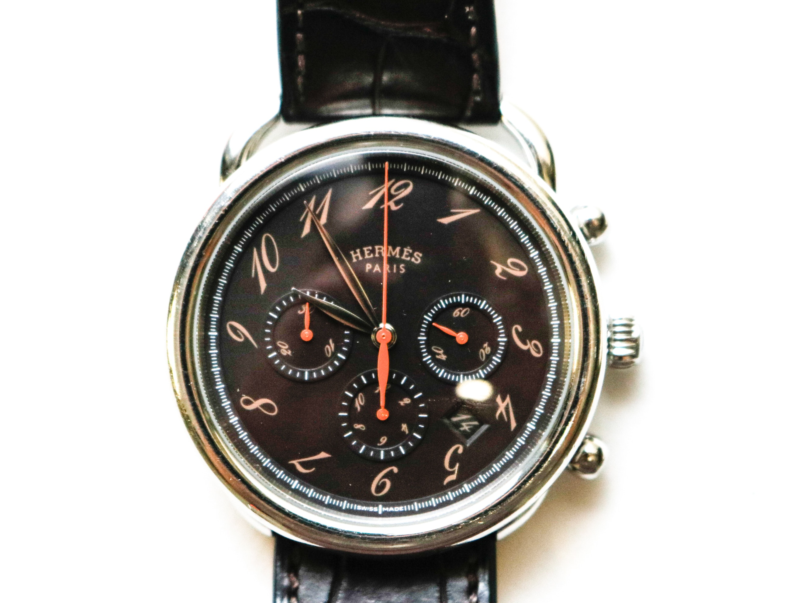 Hermes Chronograph Wristwatch in Original Box