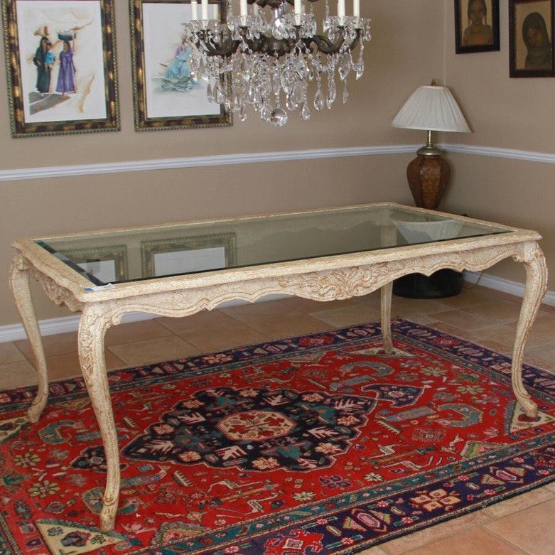 Freemarc Glasstop Dining Room Table