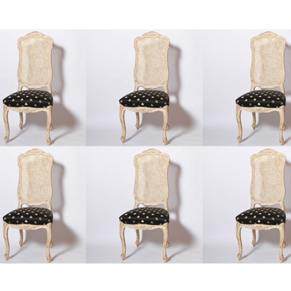 Freemarc Set of Six Queen Anne Style Dining Chairs