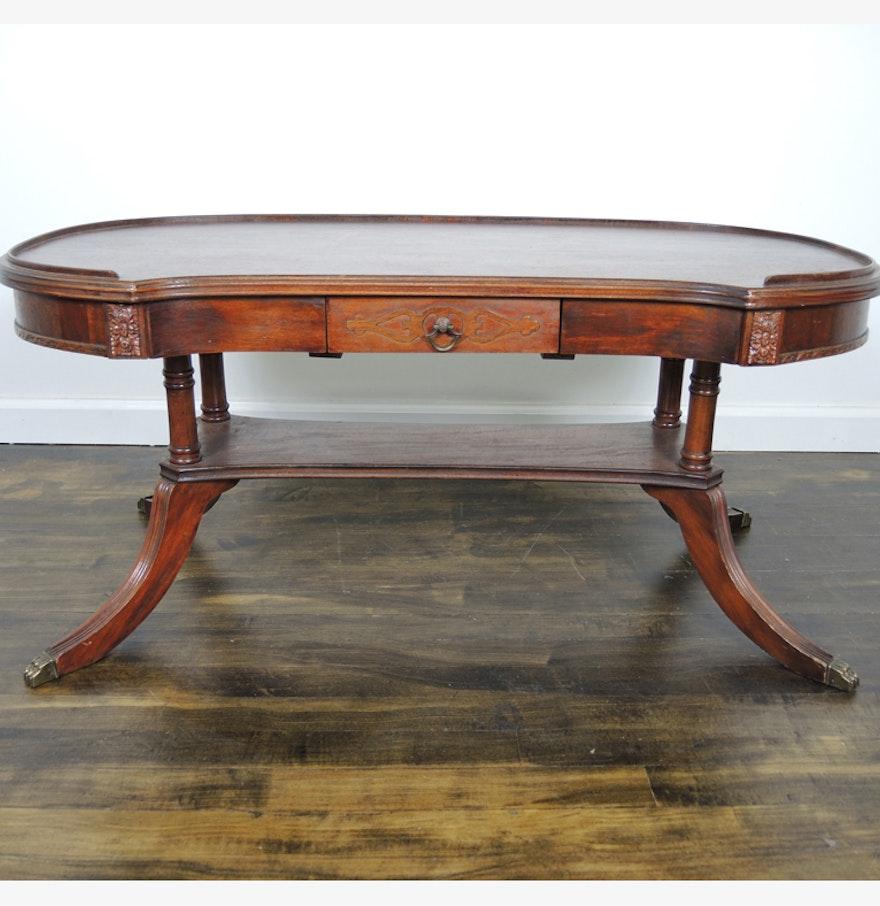 Duncan Phyfe Style Mahogany Coffee Table Ebth