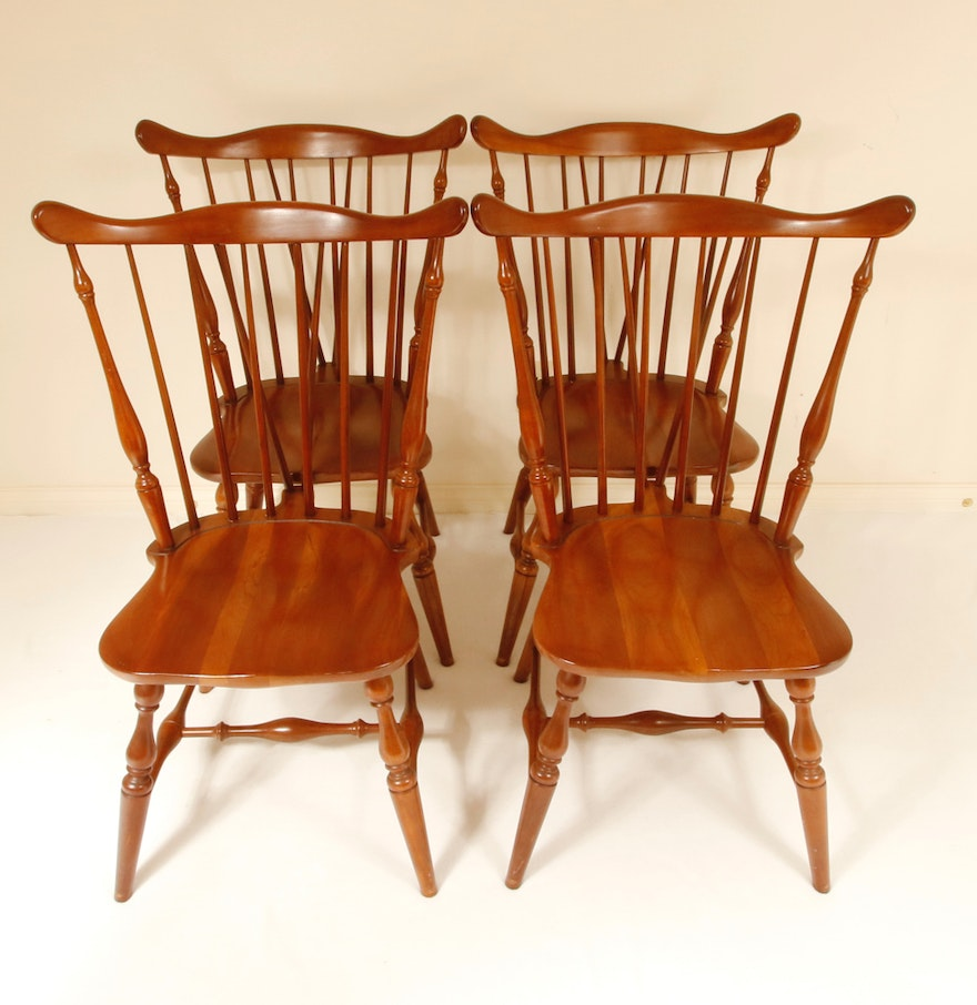 Set Of Four Windsor Chairs By Nichols And Stone Company Ebth