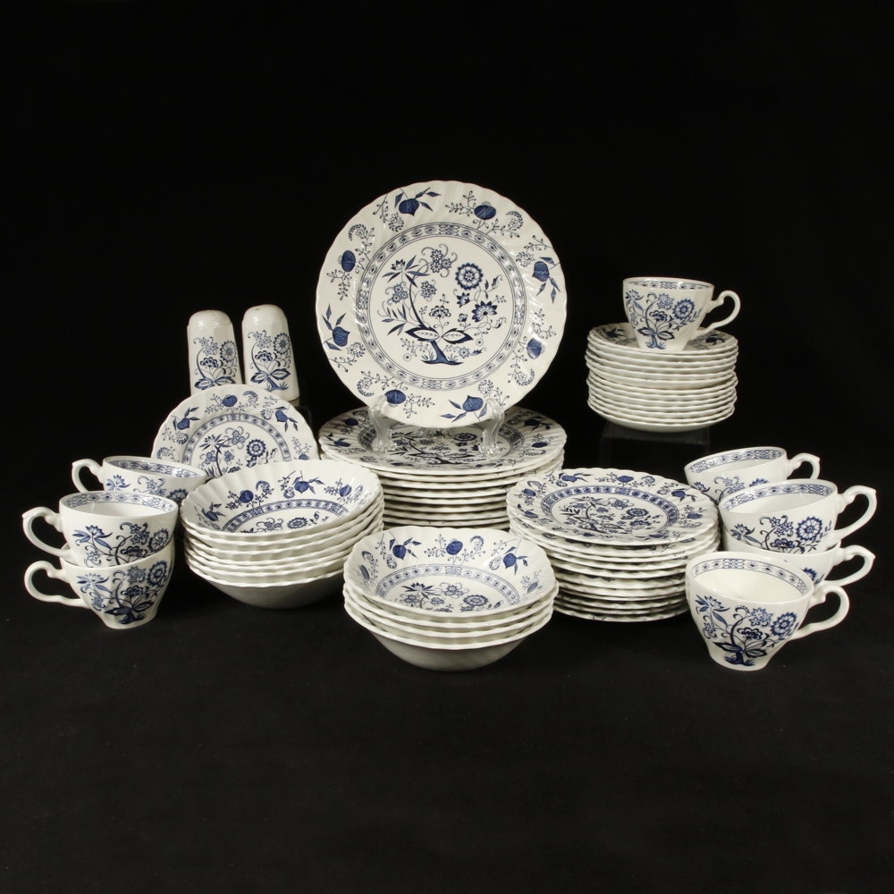 "Johnson Brothers ""Blue Nordic"" Ironstone Dish Set"