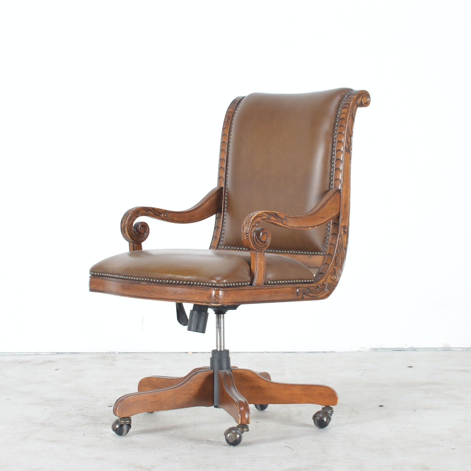 Leather and Wood Executive's Chair