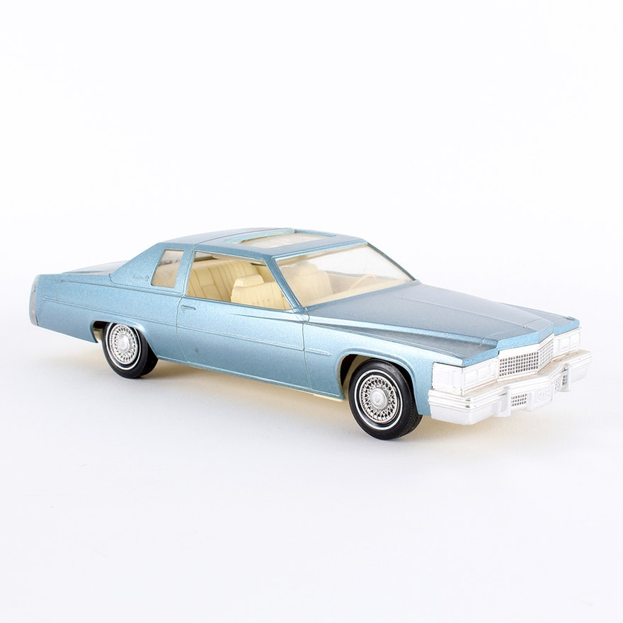 Vintage 1979 Blue Cadillac Coupe Deville Car Model By