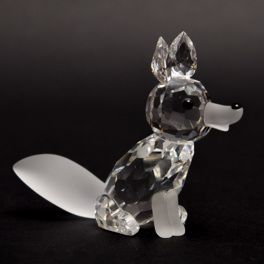 Swarovski Large Version 2 Fox Crystal Figurine #013837