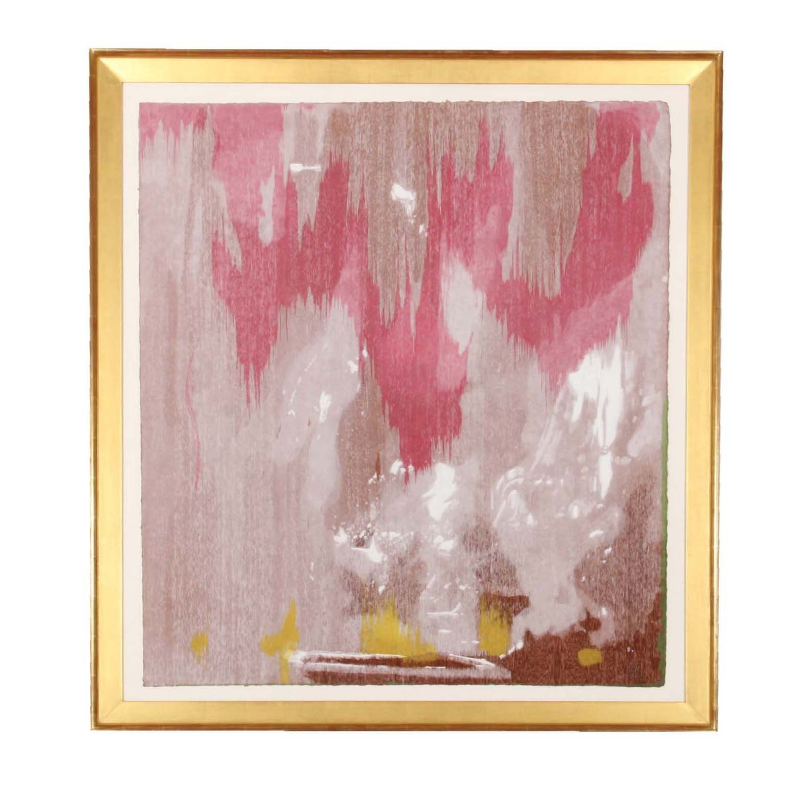 "Helen Frankenthaler ""Tales of Genji IV"" Signed Limited Edition Woodcut on Handmade Paper"