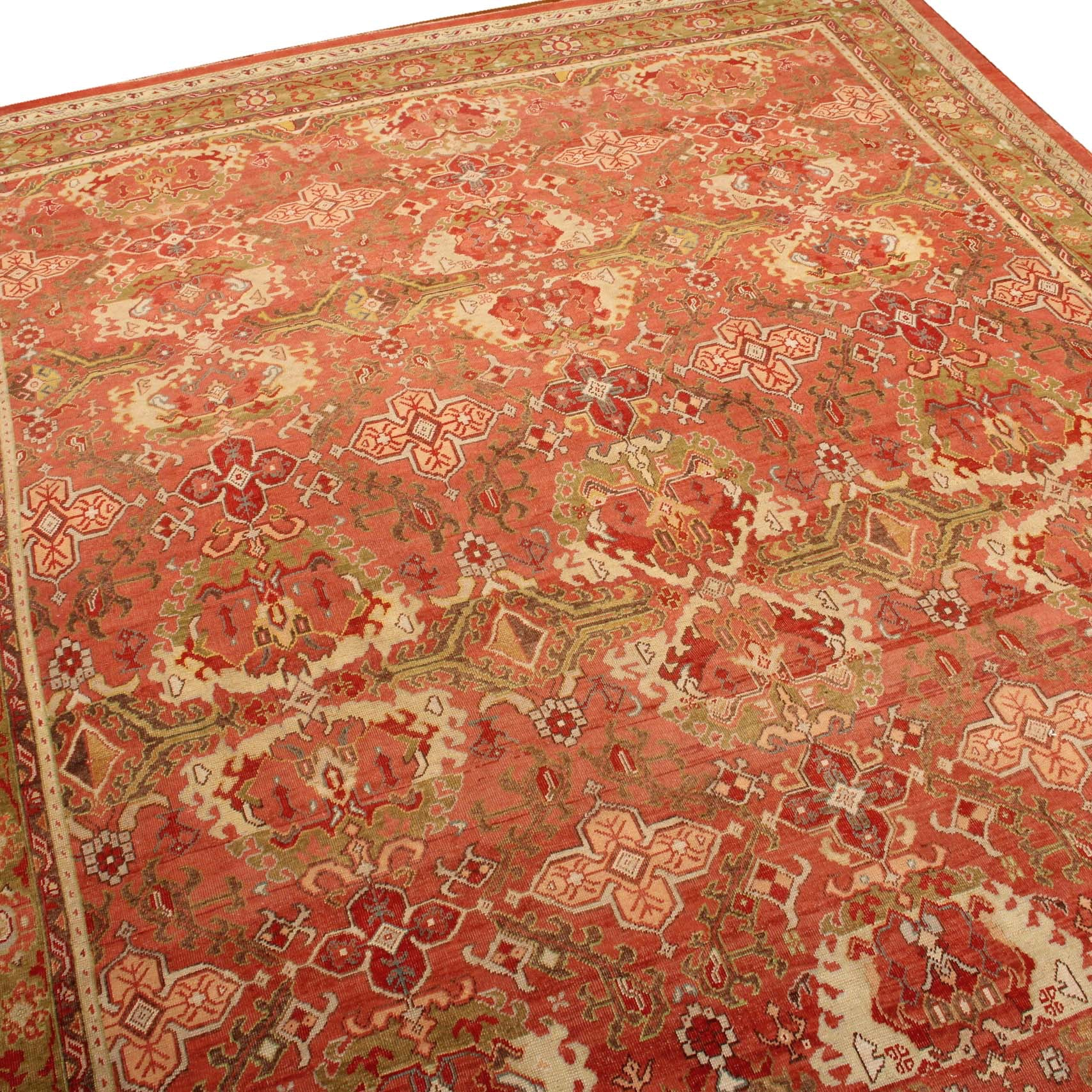 Handknotted Room-Sized Egyptian Oushak Rug