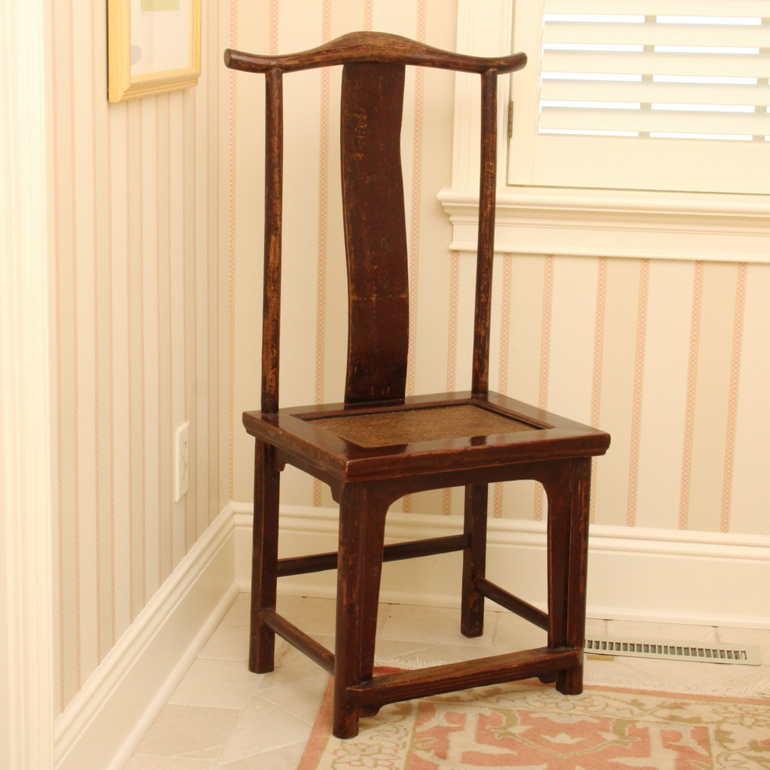 Antique Chinese Yoke Back Chair ...