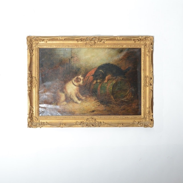 George Earle Oil Painting on Canvas