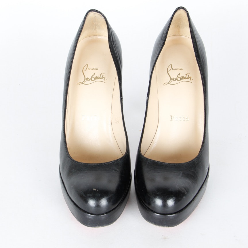Pair of Black Christian Louboutin Platform Heels