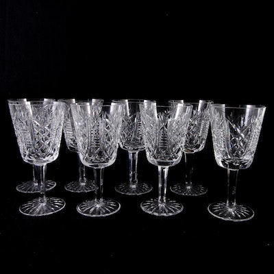 """Set of Waterford """"Clare"""" Water Goblets"""