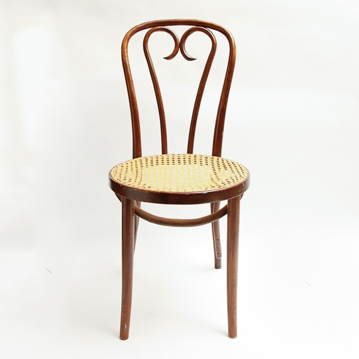 Bentwood Rattan Seated Chair