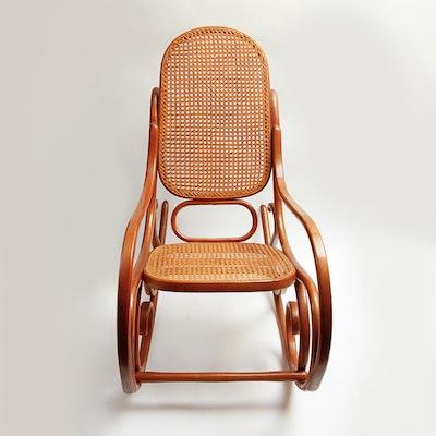 Rattan Papasan Chair And Cushion Ebth