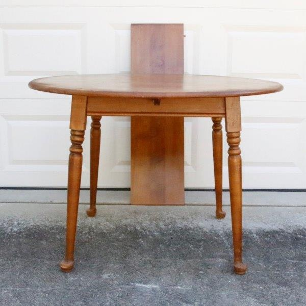 Maple Kitchen Table With Chair And Bench Ebth: Heywood Wakefield Round Maple Dining Table : EBTH