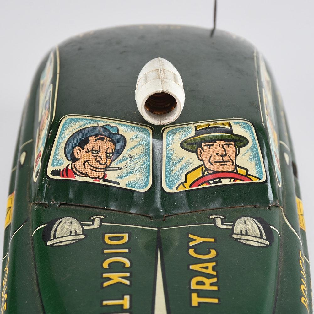 Vintage Marx Dick Tracy Tin Squad Car : EBTH
