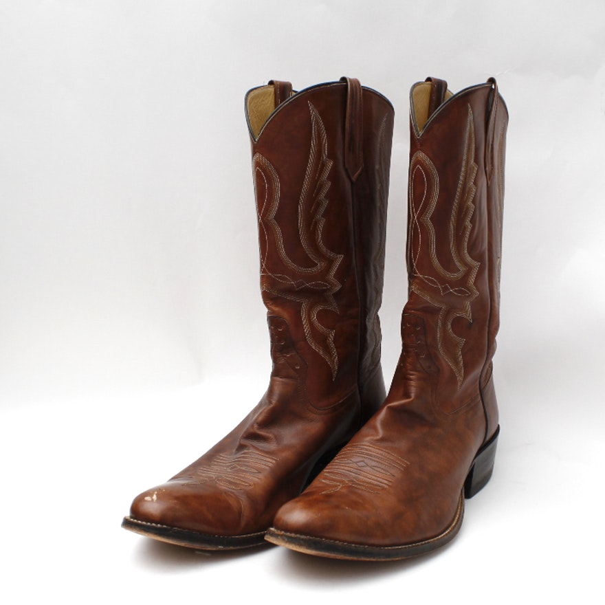 Men S Pair Of Rios Of Mercedes Leather Cowboy Boots