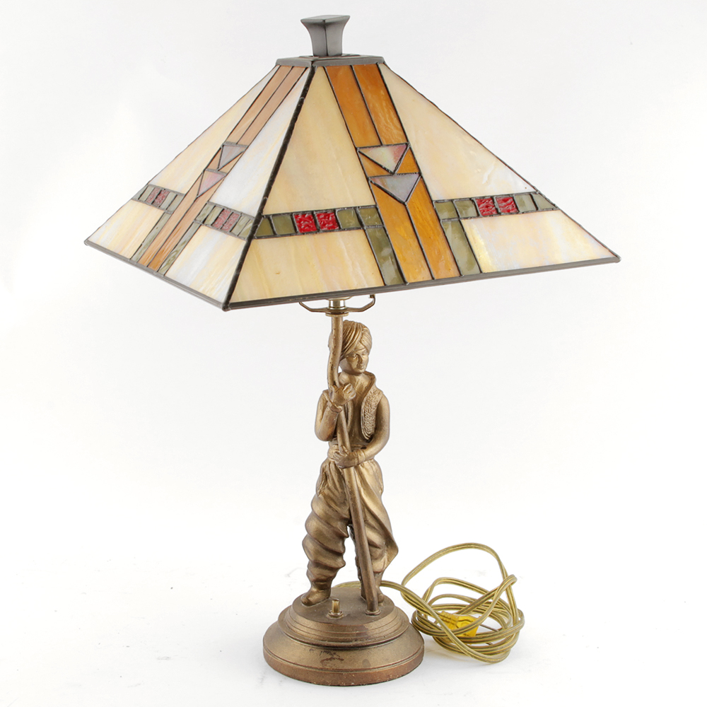 Arabian nights stained glass table lamp