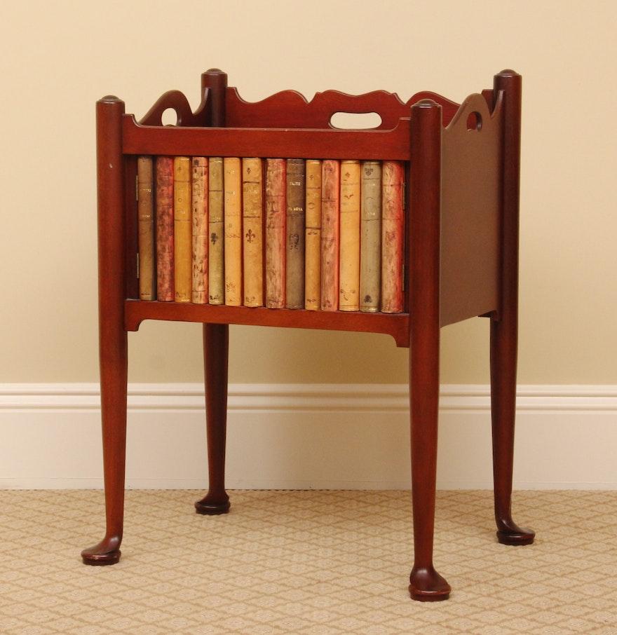 Accent Table Antique Book Binding Facade : EBTH