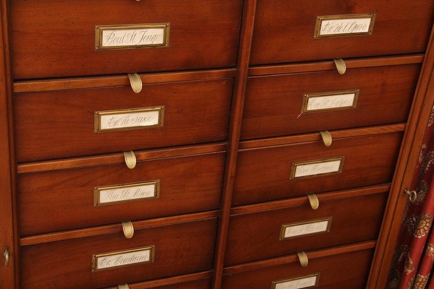 antique music sort cabinet ebth. Black Bedroom Furniture Sets. Home Design Ideas