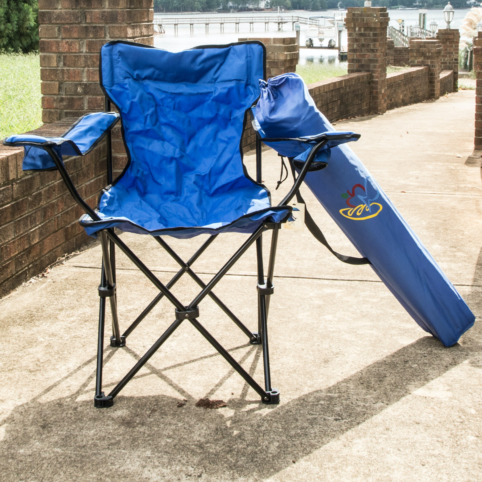 Pair Of Fold Out Lawn Chairs Ebth