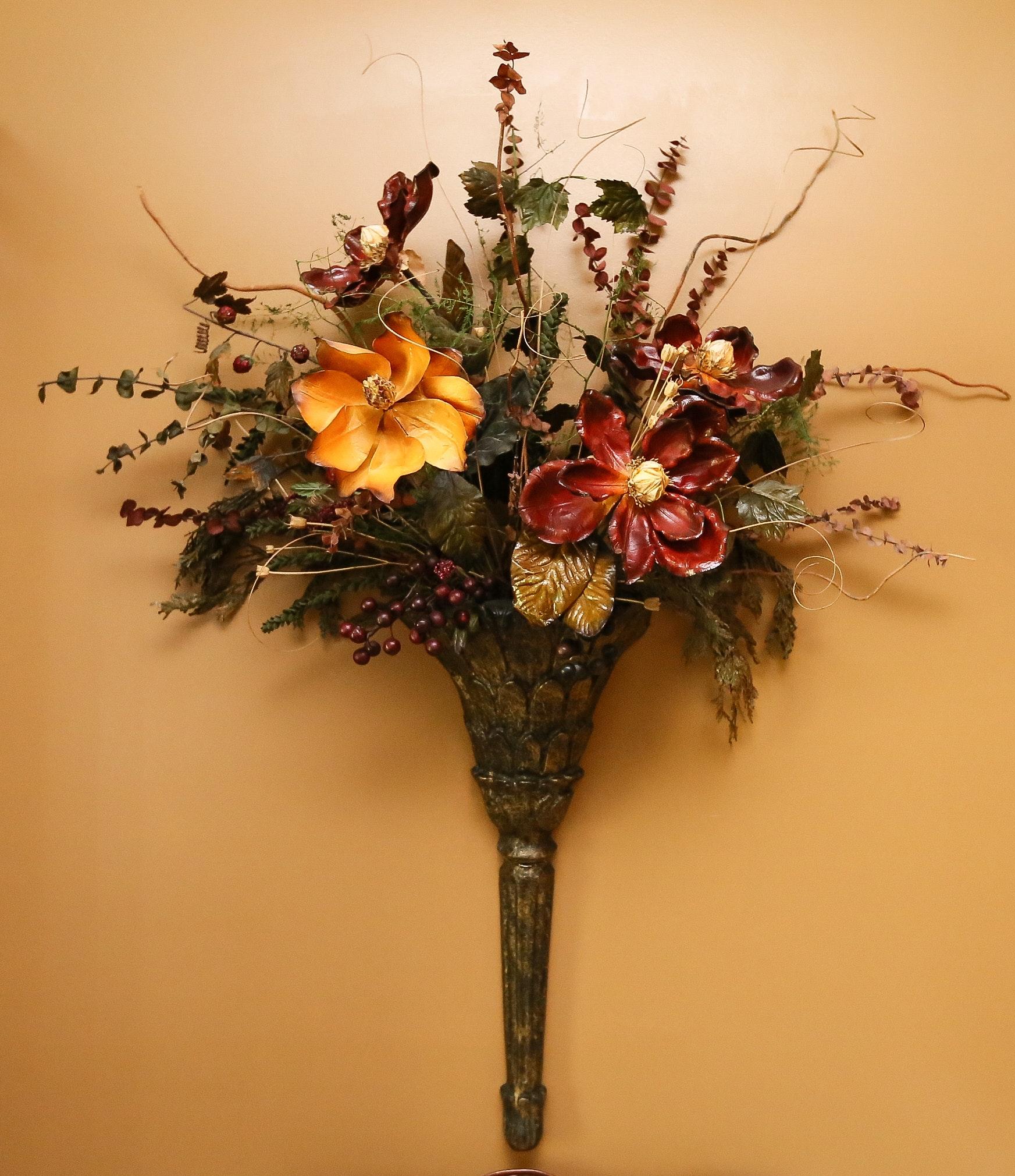 Pair of Floral Sconces : EBTH
