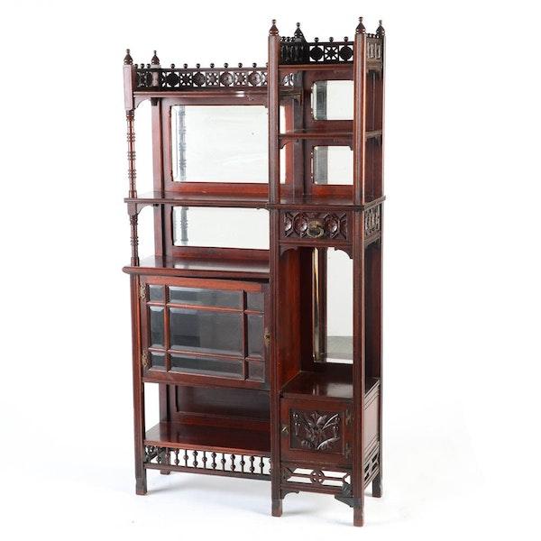 Anglo japanese style mahogany eastlake etagere ebth for Etagere japonaise