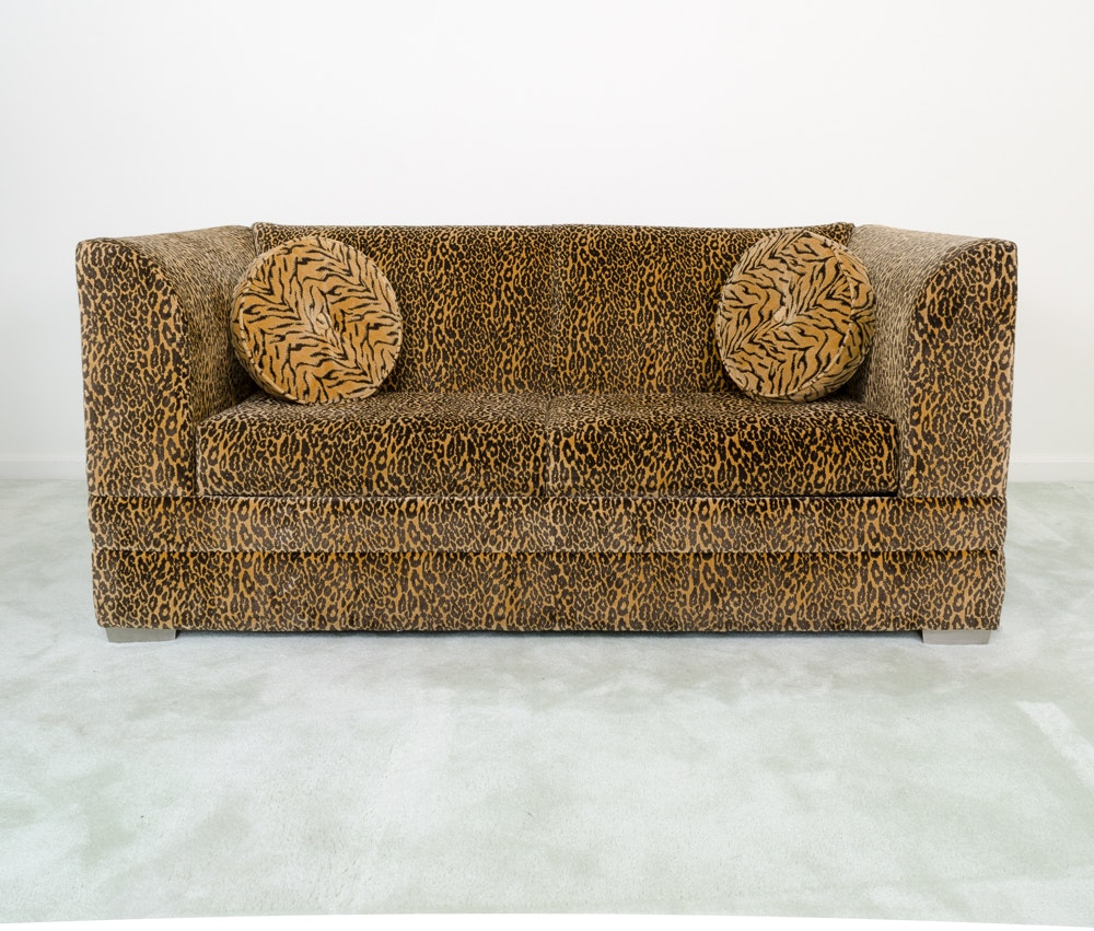 Contemporary Leopard Print Sleeper Sofa By La Z Boy ...