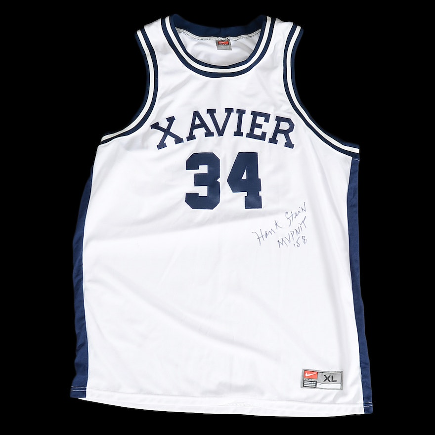 c45c21c5d70 Xavier Basketball Jersey Signed By Hank Stein '58 NIT MVP : EBTH