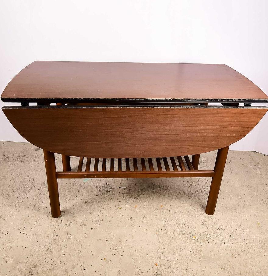 Drop leaf wood veneer dining table ebth for Table 52 2016