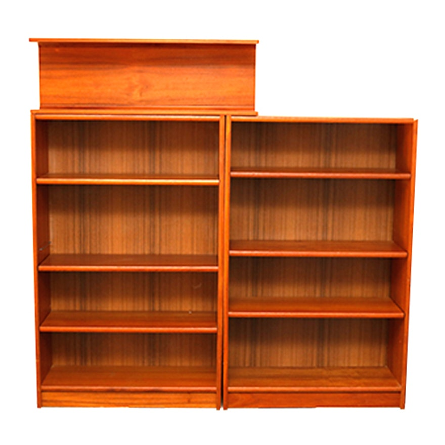 matching teak bookshelves 1x1 - Teak Bookshelves