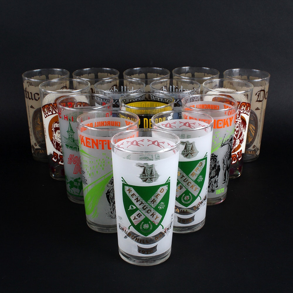 Selection of Kentucky Derby Glasses from the 1970s