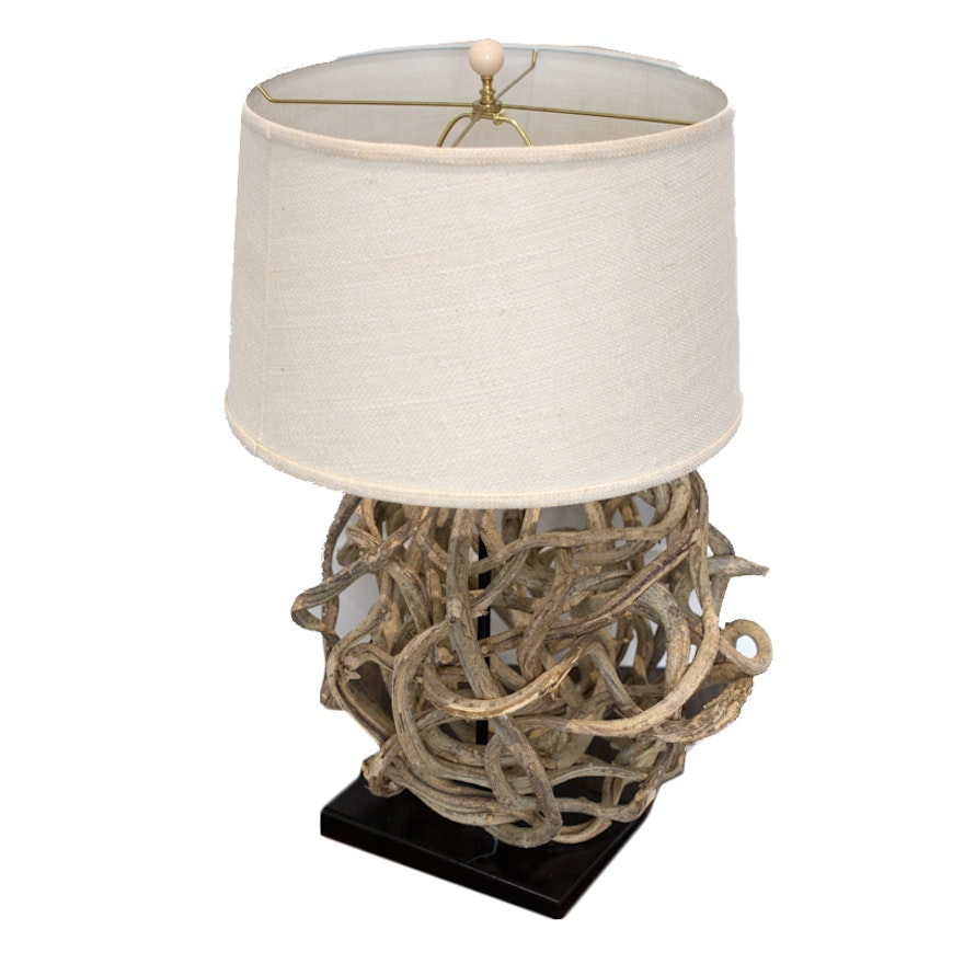 Curling Vine Sphere Table Lamp With Shade From Shades Of Light