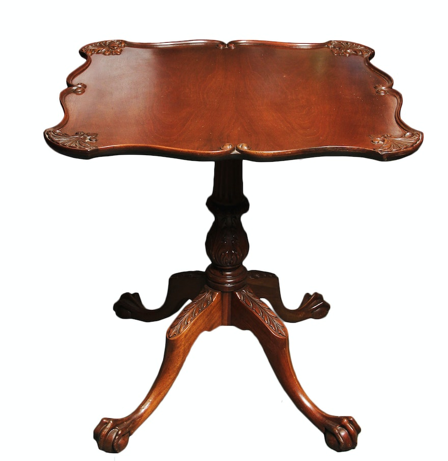 Antique claw foot table ebth antique claw foot table geotapseo Choice Image