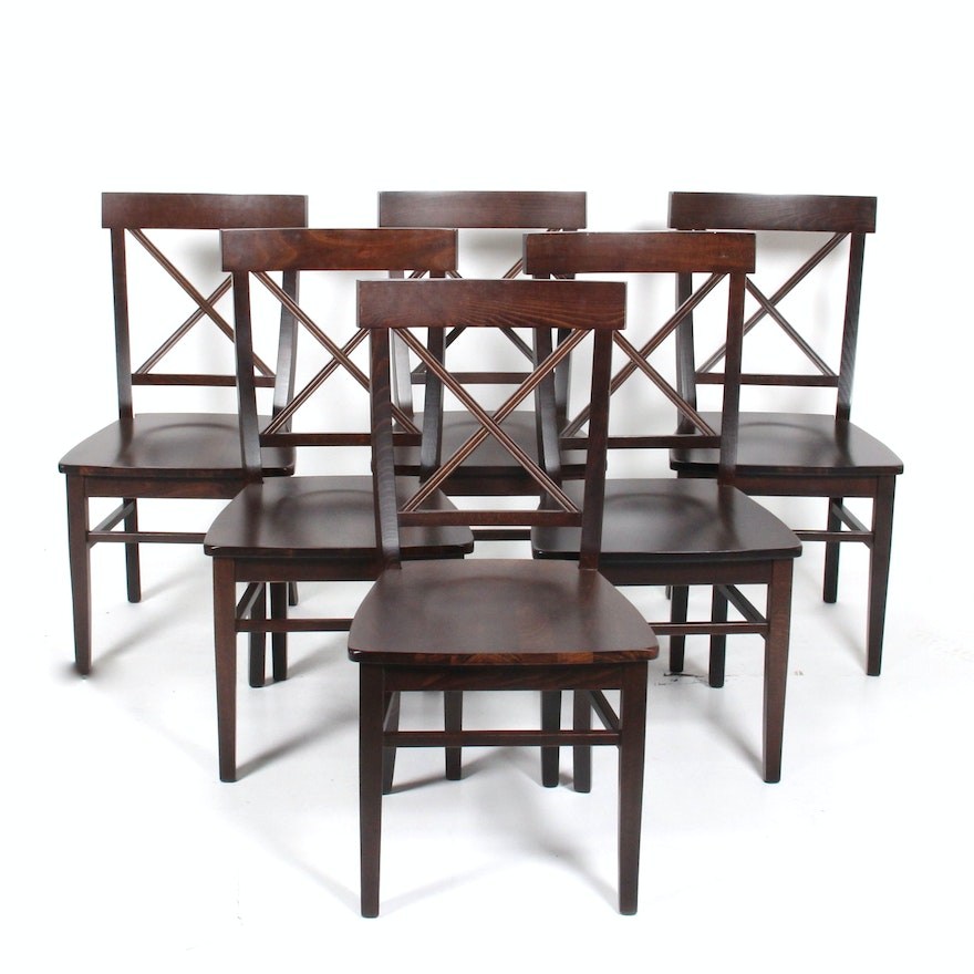 Set Of Pottery Barn Stefano Dining Chairs Ebth
